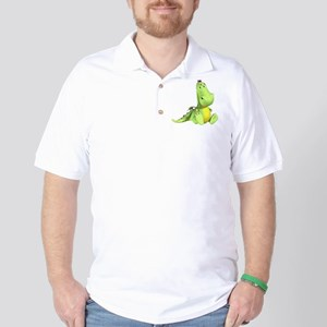 Cute Green Dragon Golf Shirt